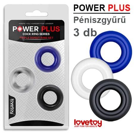 Power Plus Péniszgyűrű – 3 db