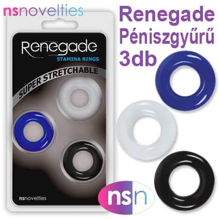 Renegade Péniszgyűrű – 3db
