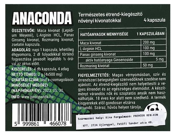anaconda potencianövelő hátlap